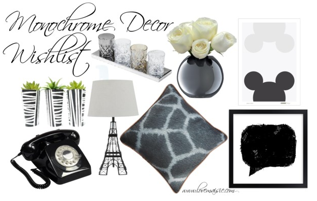 Decor Wishlist | Monochrome | Love, Maisie