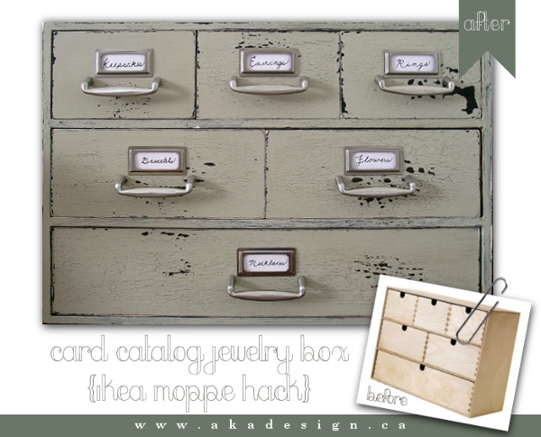 Moppe Card Catalog Jewelry Box Get Home Decorating