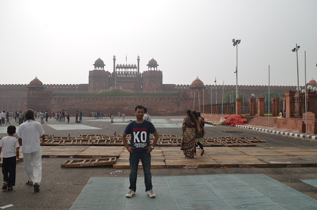 In front of Red Fort, Delhi