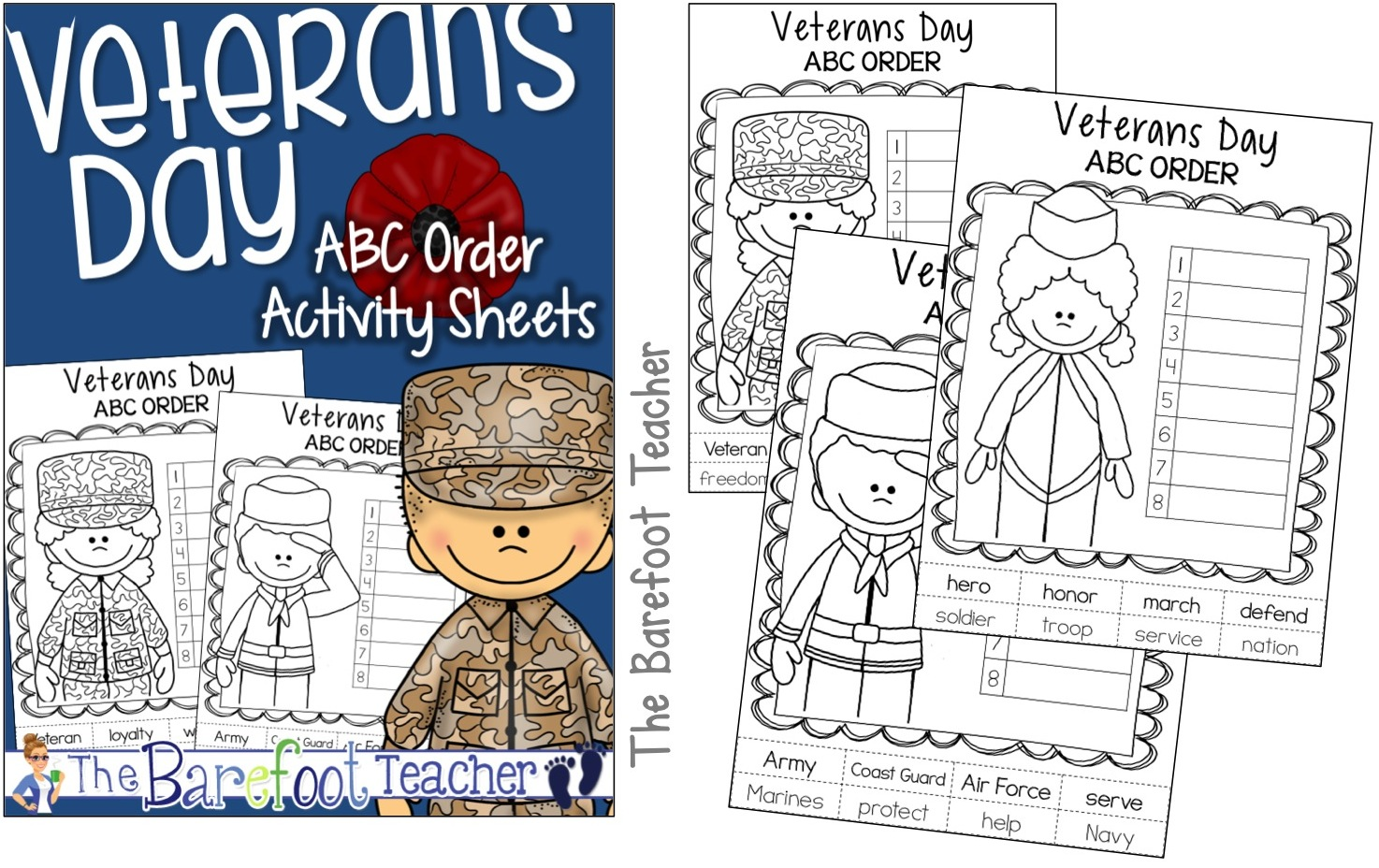 The Barefoot Teacher Veterans Day Resources Amp Activities For Kinders