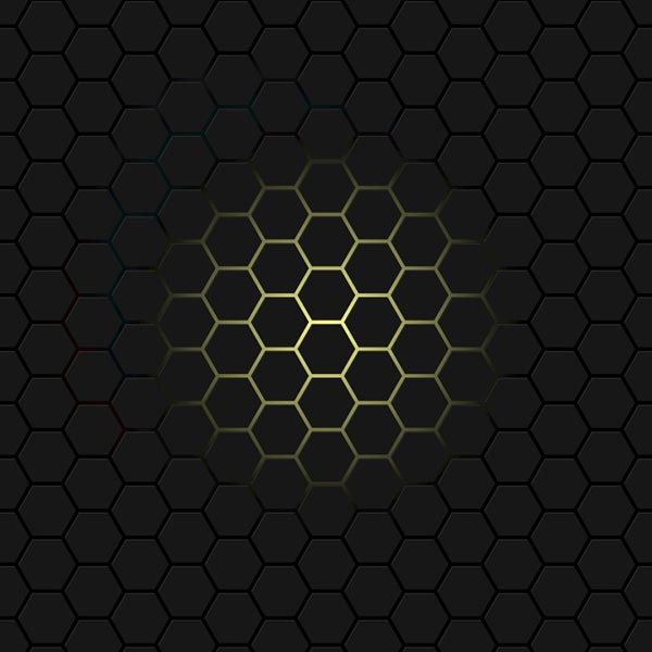 Neon Under Hex Mesh Wallpaper Engine