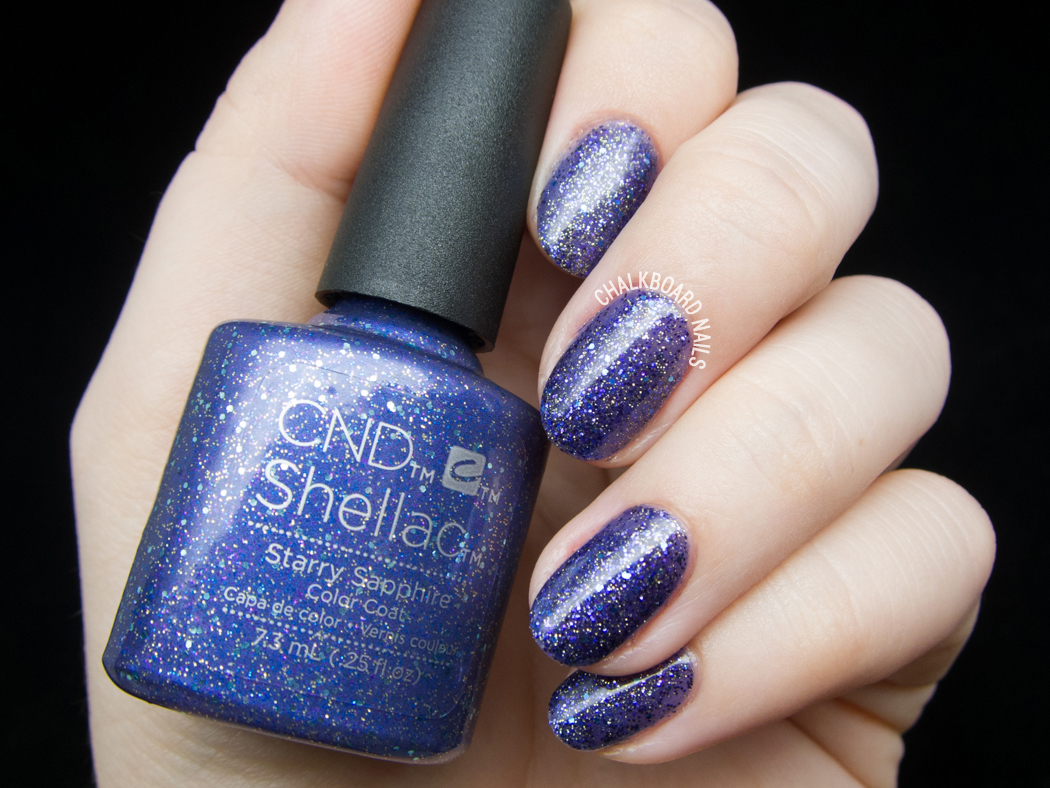 CND Shellac Starry Sapphire @chalkboardnails