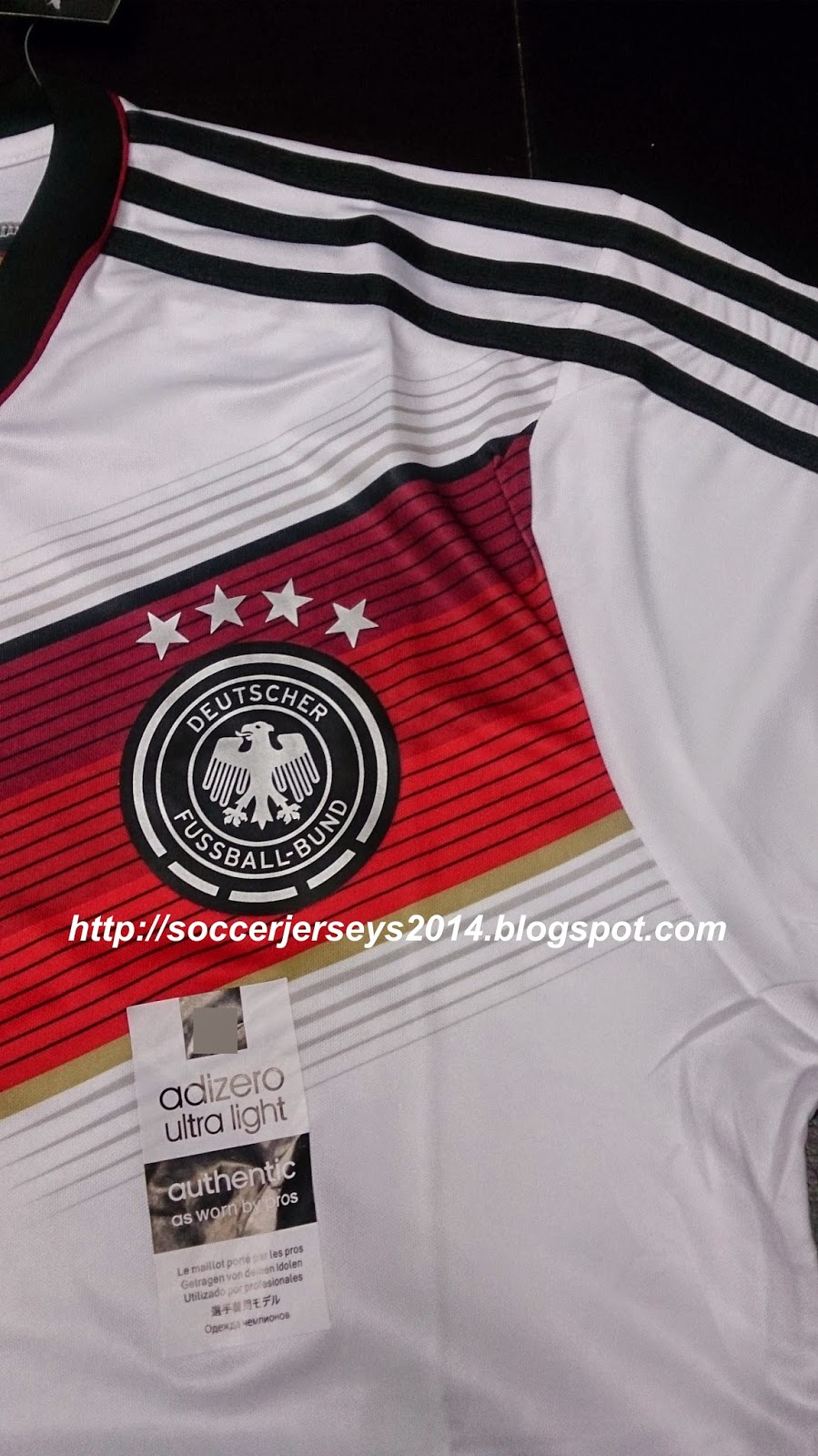 6224f810e Soccer Jerseys 2014: World Cup 2014 Germany Home Champion 4 Star - Player  Issue
