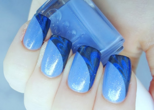 Diagonal water marble tips