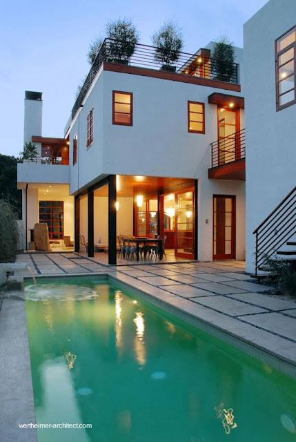 Casa moderna con piscina exterior en Venice, California, Estados Unidos