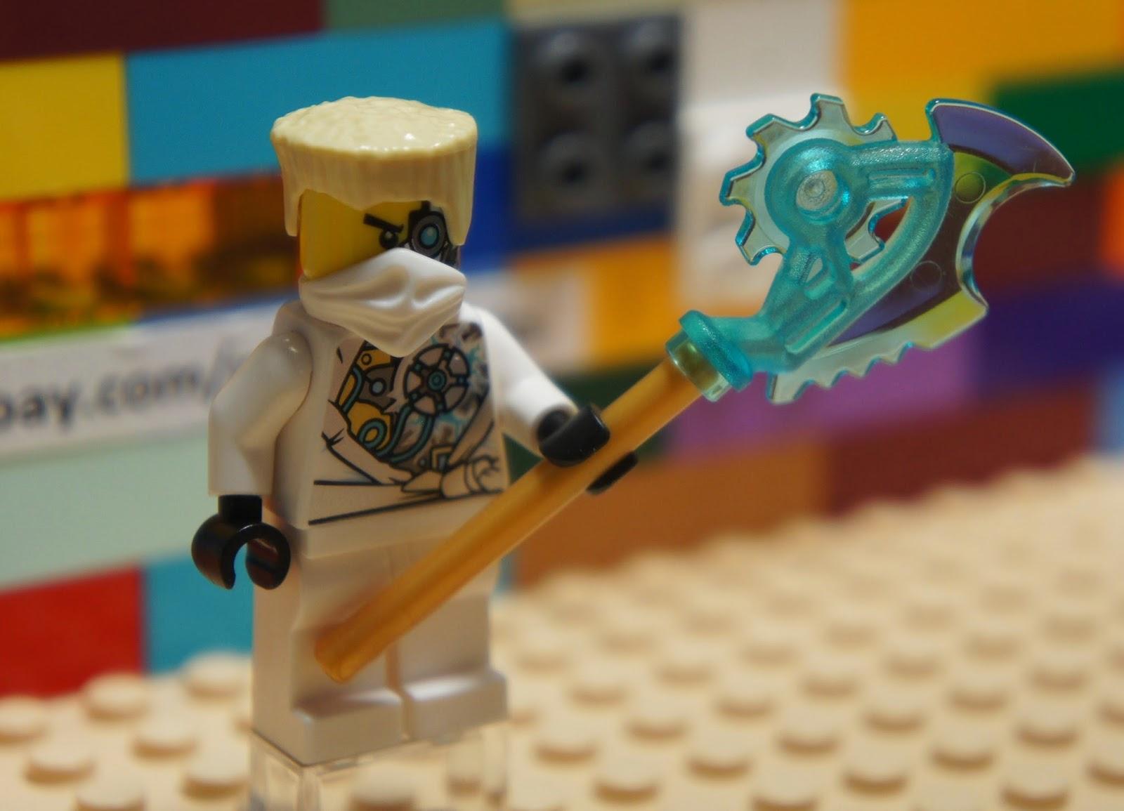 Lego njo085 ninjago white ninja zane rebooted battle - Ninjago lego zane ...