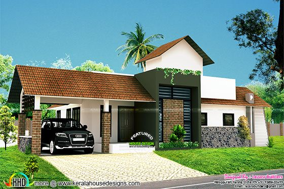 1110 sq-ft 2 bedroom house plan