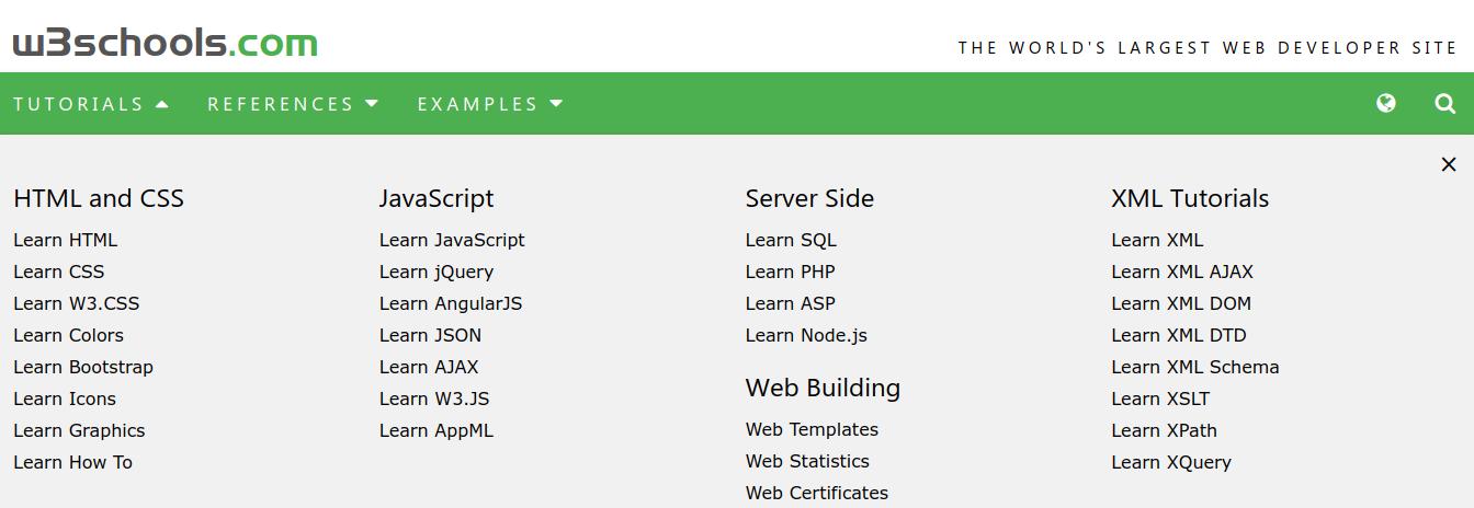 Huan's Blog: W3Schools - The Largest Web Developer Site on