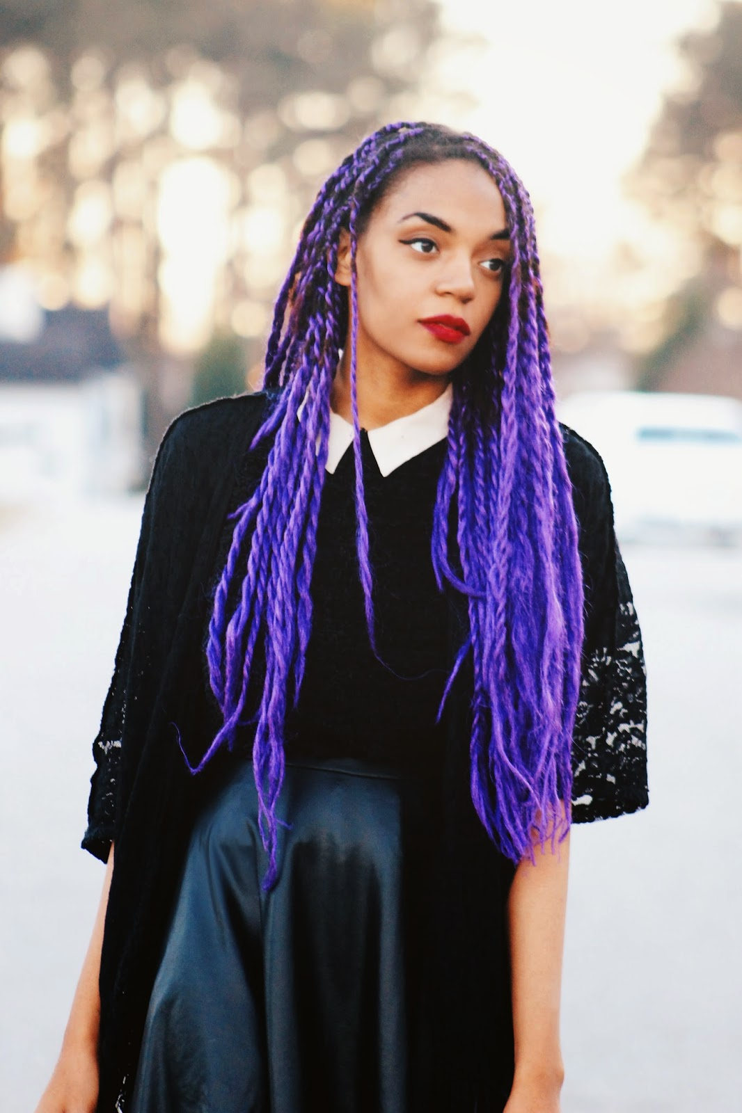 Purple Senegalese Twists | I Style Looks