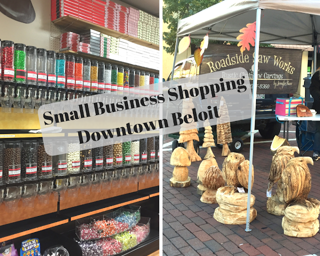 Small Business Shopping in Downtown Beloit, Wisconsin
