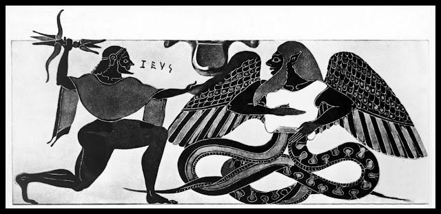 Combate de Zeus con Tifón