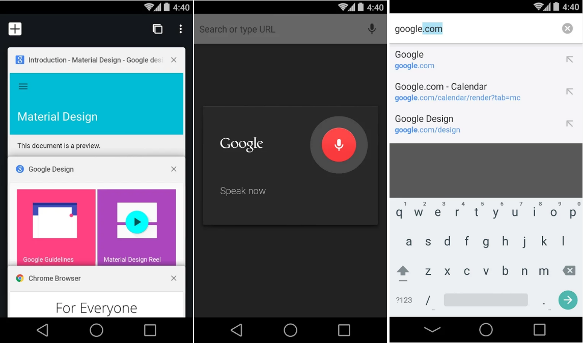 Chrome Browser - Screenshots