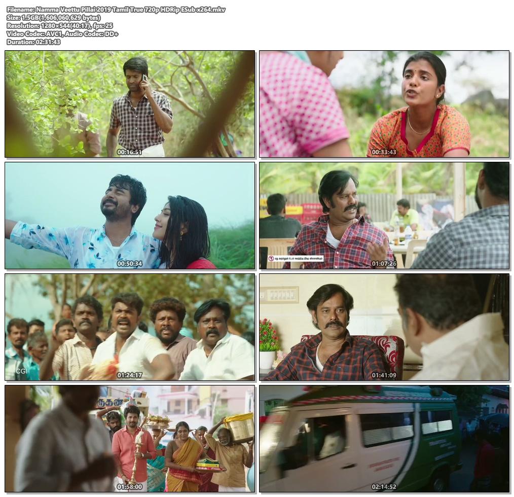 Namma Veettu Pillai 2019 Tamil True 720p HDRip ESub x264 | 480p 300MB | 100MB HEVC Screenshot