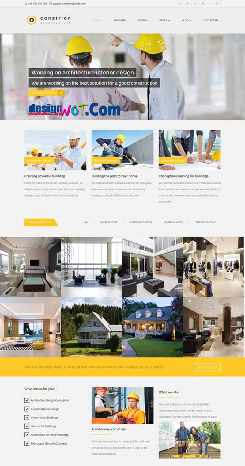 CONSTRION Responsive HTML Template