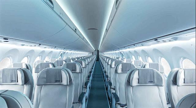 Bombardier CS300 Air Baltic Cabin Interior