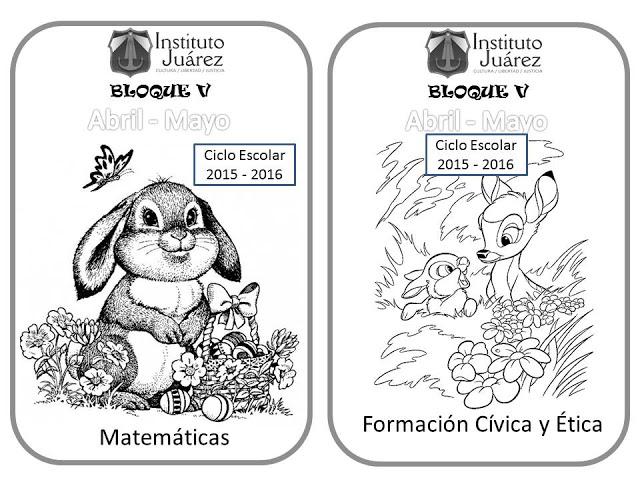 Imagenes Para Portada De Español Para Colorear: Instituto Juárez 6° Primaria: Portadas De 5to Bimestre Español