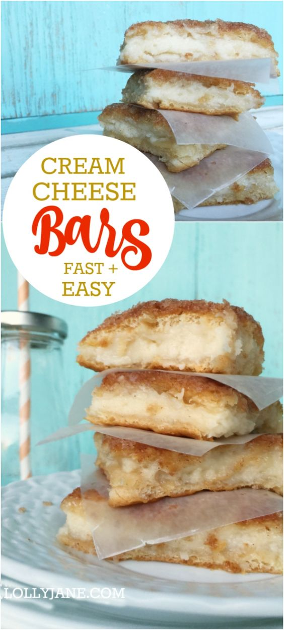 Cream Cheese Bars #cream #cheese #bars #cake #cakerecipes #dessert #dessertrecipes
