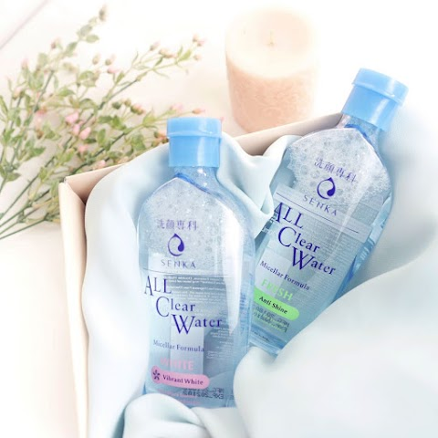 [REVIEW] Senka All Clear Water Vibrant White (White)
