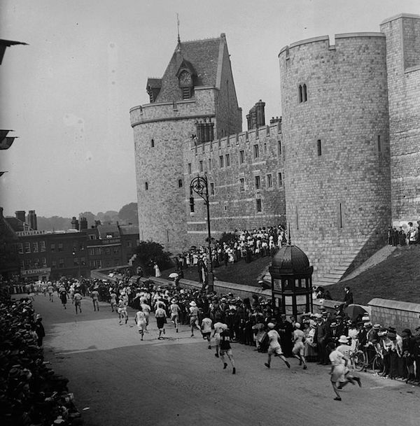 1908 Marathon. Runners start at Windsor Castle. Your Russians are missing and other stories about past Olympics. marchmatron.com