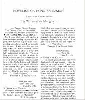Novelists or Bond Salesman, 1925 The Bookman - W. Somerset Maugham