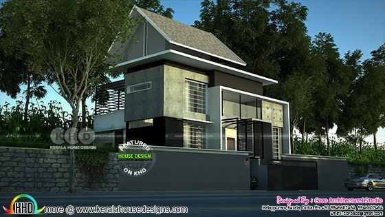 Mixed roof 2700 square feet modern home