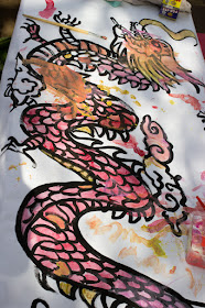 Giant Chinese New Year Collaborative Dragon Painting Activity