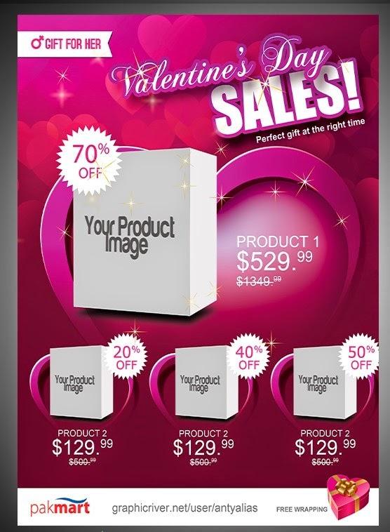 Valentine Day Sale Flyer