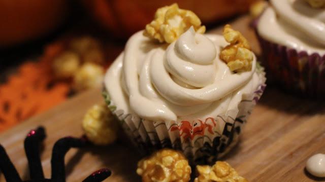 Cupcakes à la citrouille et glaçage au caramel salé