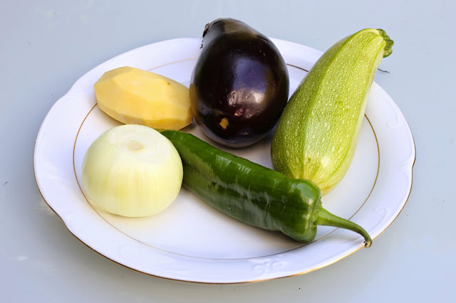 Ingredientes para pisto