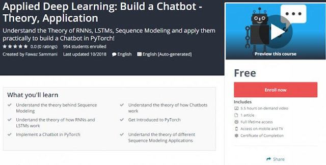 [100% Free] Applied Deep Learning Build a Chatbot - Theory, Application
