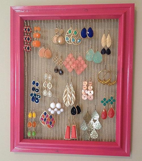 La pietra blu di avalon organizzare i gioielli tutorial for Porta orecchini fai da te
