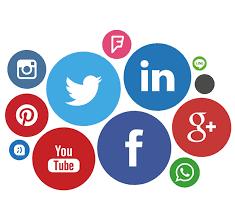logotipo de las principales redes sociales,Facebook,Twitter,Linkedin...