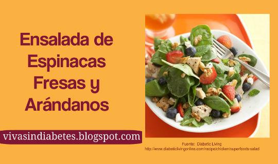 Ensaladas Para Diabéticos: Espinacas y Arándanos