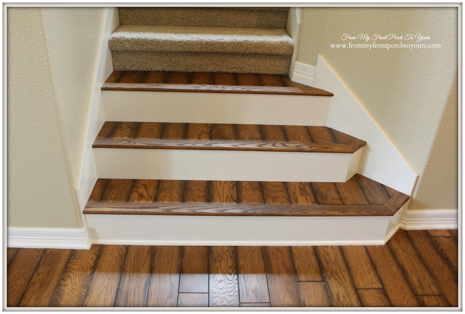 Rustic Stair  Renovation Oak Flooring Verticel Design From My Front