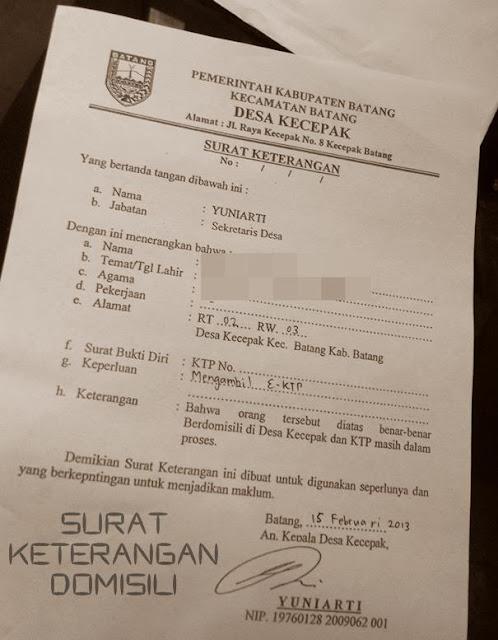 Surat Pengambilan eKTP