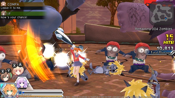 MegaTagmension Blanc + Neptune VS Zombies Deluxe Edition PC Free Download Screenshot 2