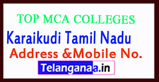 Top MCA Colleges in Karaikudi Tamil Nadu