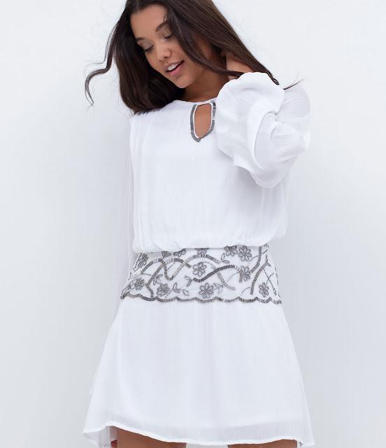 Moda vestido com bordados