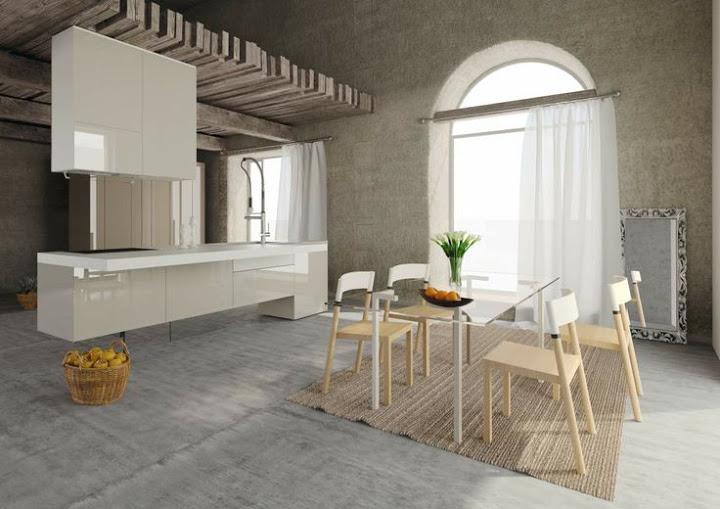 cuisine suspendue. Black Bedroom Furniture Sets. Home Design Ideas