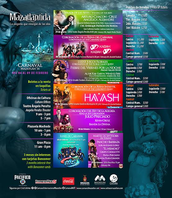 programa carnaval mazatlan 2016