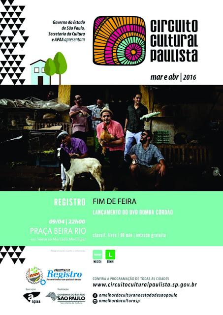 Grupo Fim de Feira se apresenta neste sábado, 9/04, na Praça Beira Rio