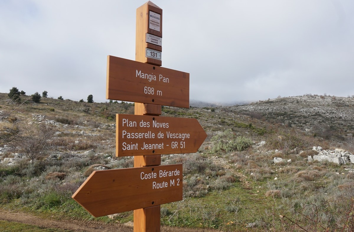 Signpost at Mangia Pan