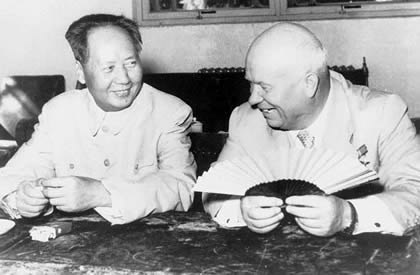 Khrushchev with Mao