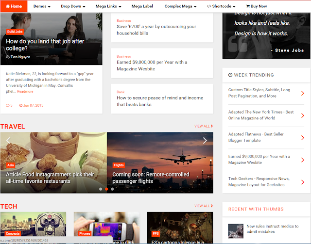 Magone Template for blogger