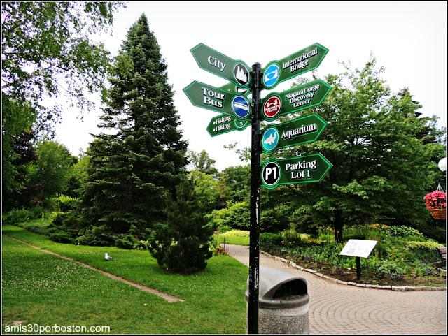Señales en el Niagara Falls State Park, Estados Unidos