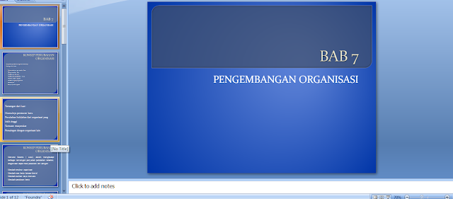 Power Point Pengembangan Organisasi (Perilaku Organisasi) download Cepat PPT