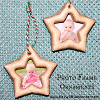 Salt dough photo frame ornament -  easy salt dough recipe and salt dough craft ideas for kids
