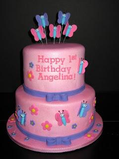 gambar kue ulang tahun untuk anak perempuan sederhana