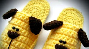 Pantuflas Perritos para Niños / Paso a paso Crochet