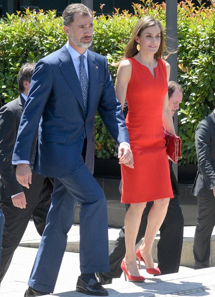 King Felipe and Queen Letizia presented the 'La Caixa' Scholarships with a ceremony held at the La Caixa headquarters in Barcelona